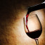 vino rosso e bottiglia